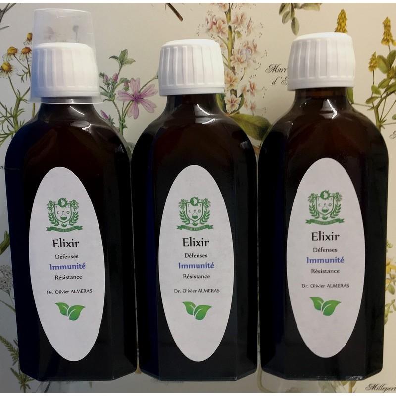 3 Elixirs Défenses Immunité Résistance