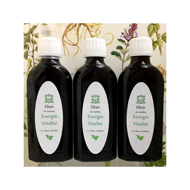 Lot de 3 Elixirs du Suédois Energie-Vitalité