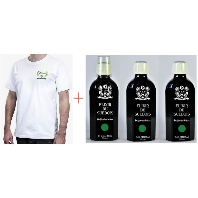 """3 Elixirs du Suédois """"Très Longue Macération"""" + 1 Tee-Shirt"""